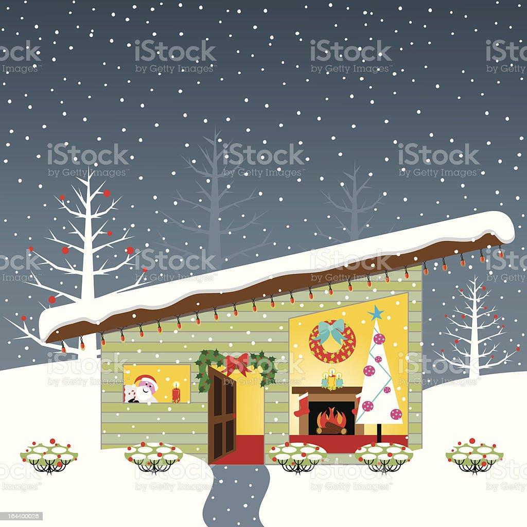 Christmas Open House royalty-free stock vector art