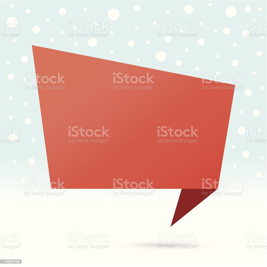 christmas origami banner vector art illustration
