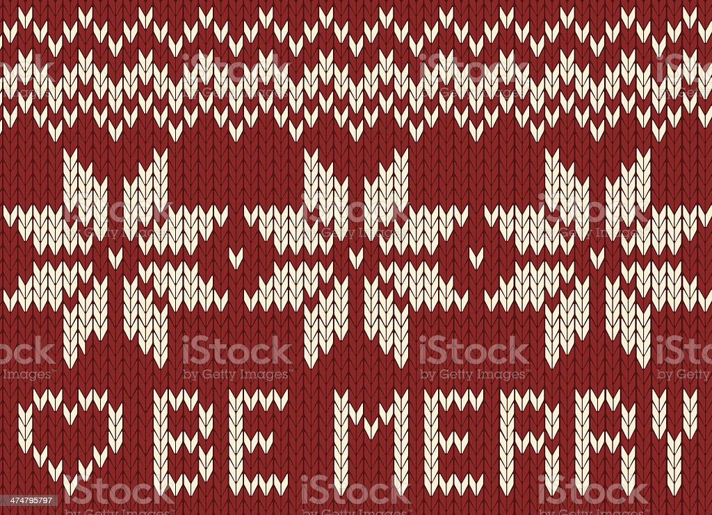 christmas ornament on red background royalty-free stock vector art