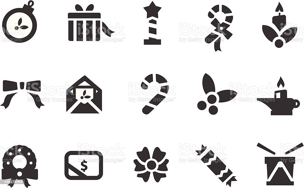 Christmas Ornament Symbols royalty-free stock vector art