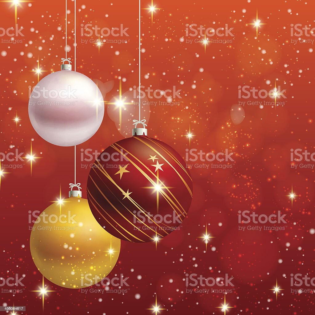 Christmas Card With Balls In A Gold Frame Clip Art Vector Images
