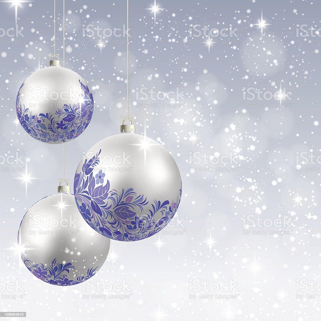 Bola de Árvore de Natal em vetor de fundo de cartão vetor e ilustração royalty-free royalty-free