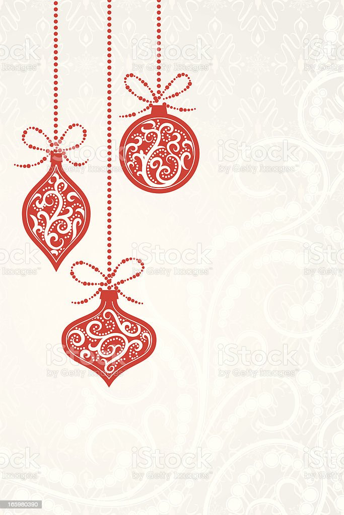 Christmas ornaments background royalty-free stock vector art