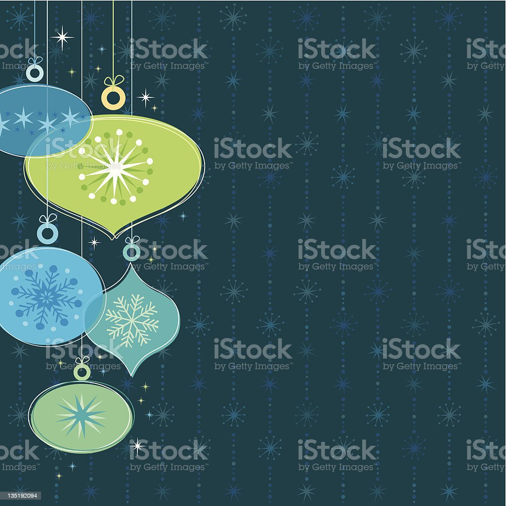 Christmas ornaments on a dark background stock photo