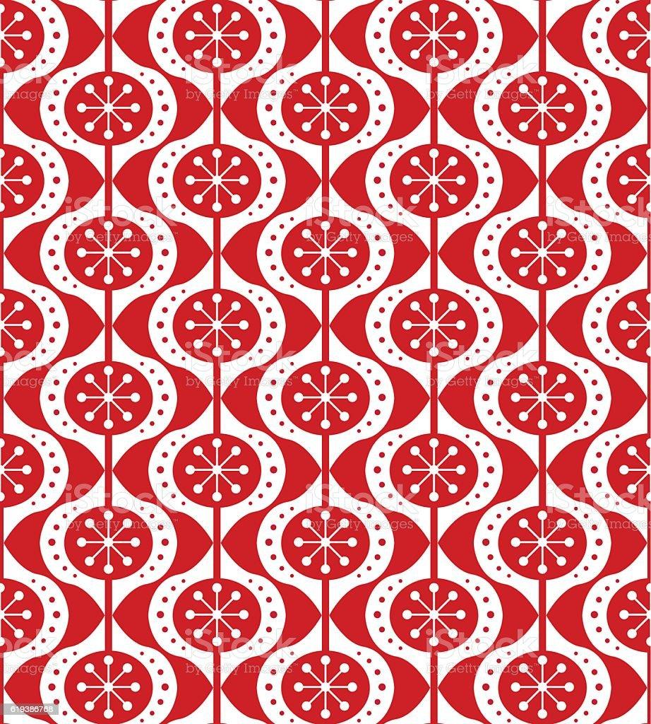 Christmas ornaments seamless pattern vector art illustration