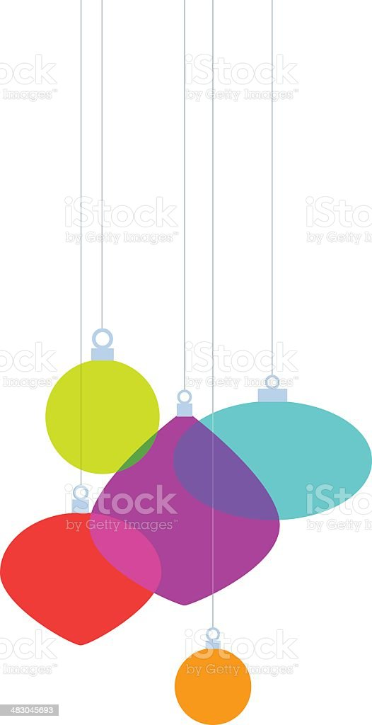 Christmas Ornaments Simplified royalty-free stock vector art
