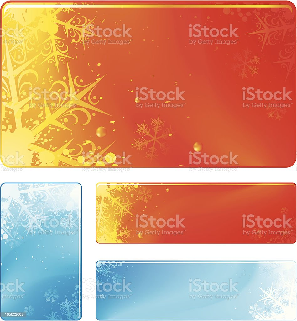 Christmas panels royalty-free stock vector art