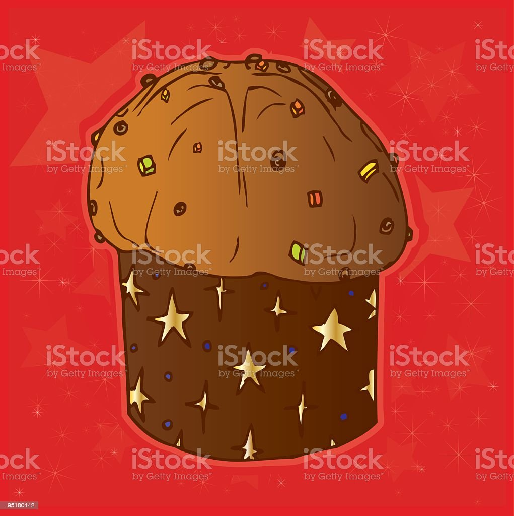 Panettone di Natale vector art illustration