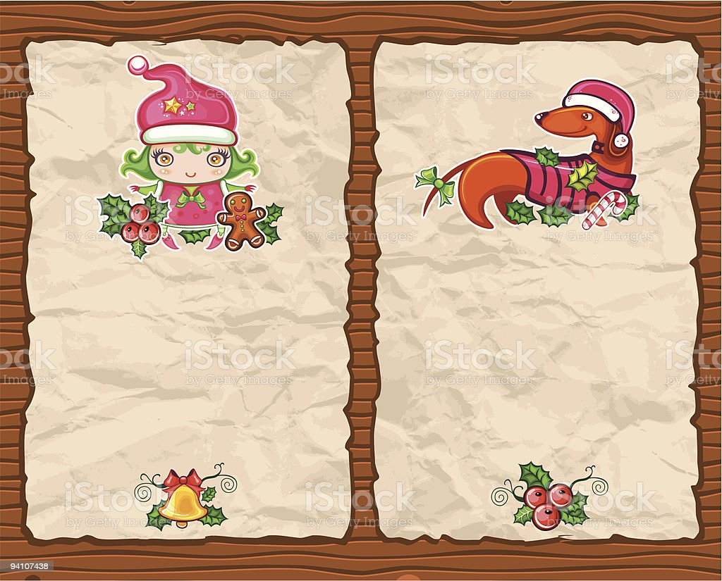 Christmas paper backgrounds series royalty-free stock vector art