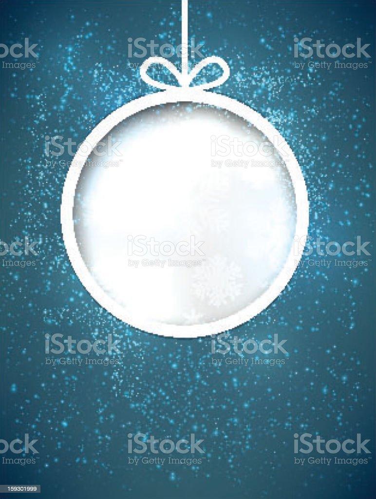 Christmas paper ball. royalty-free stock vector art