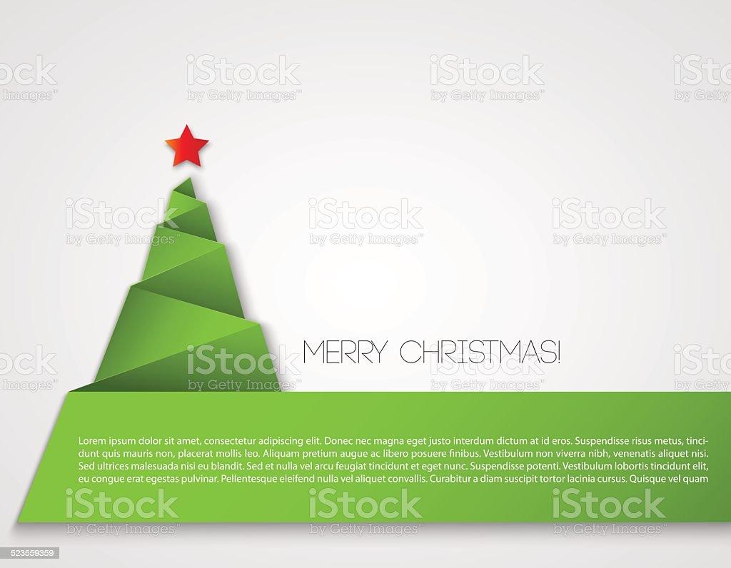 Christmas paper tree vector art illustration