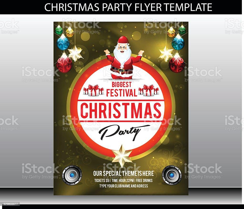 christmas party flyer template stock vector art 529803577 istock christmas party flyer template royalty stock vector art