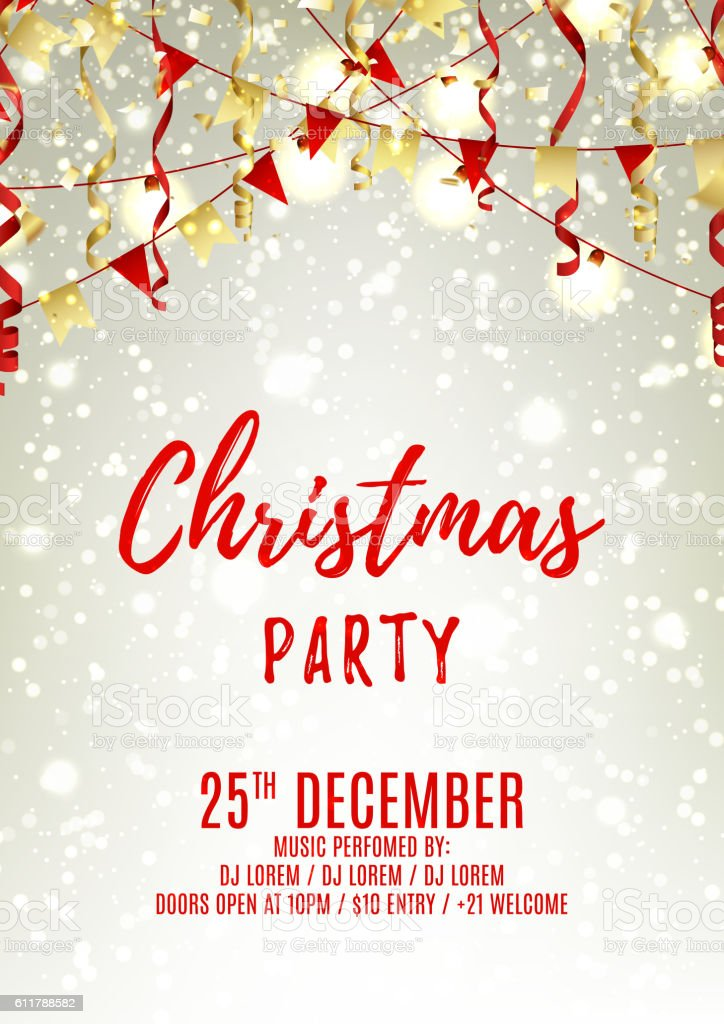 Christmas party flyer template royalty-free stock vector art