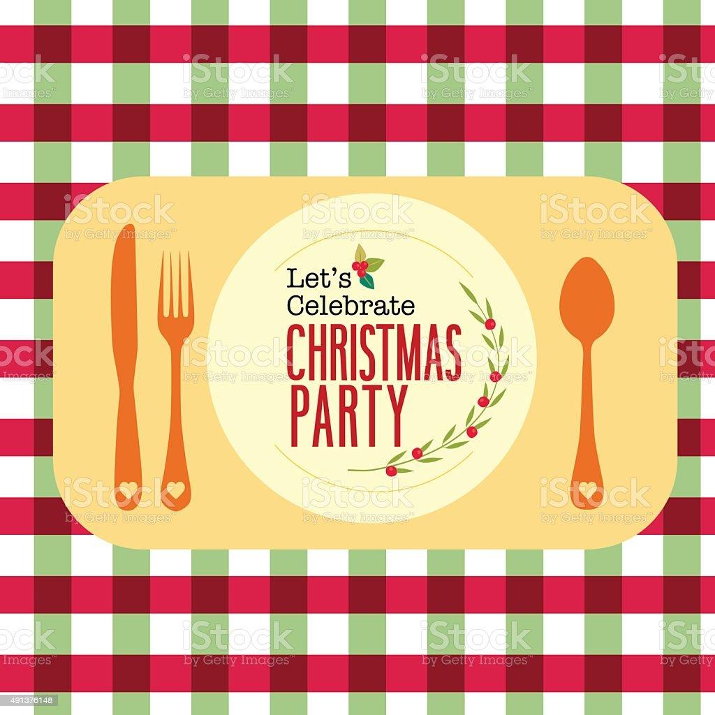 Christmas party invitation card poster design vector art illustration