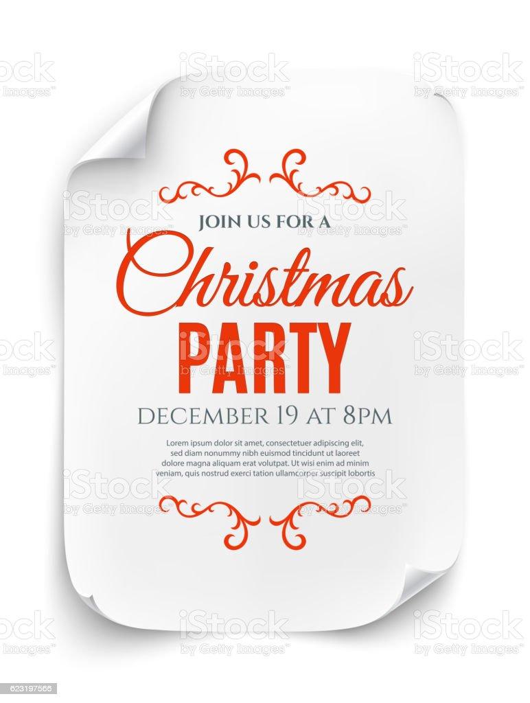 Christmas party invitation poster. vector art illustration