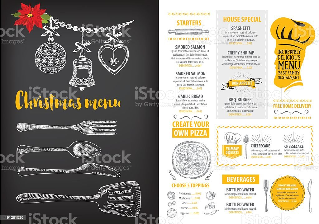 weihnachtspartyeinladung restaurant essenflyer vektor illustration, Einladungen