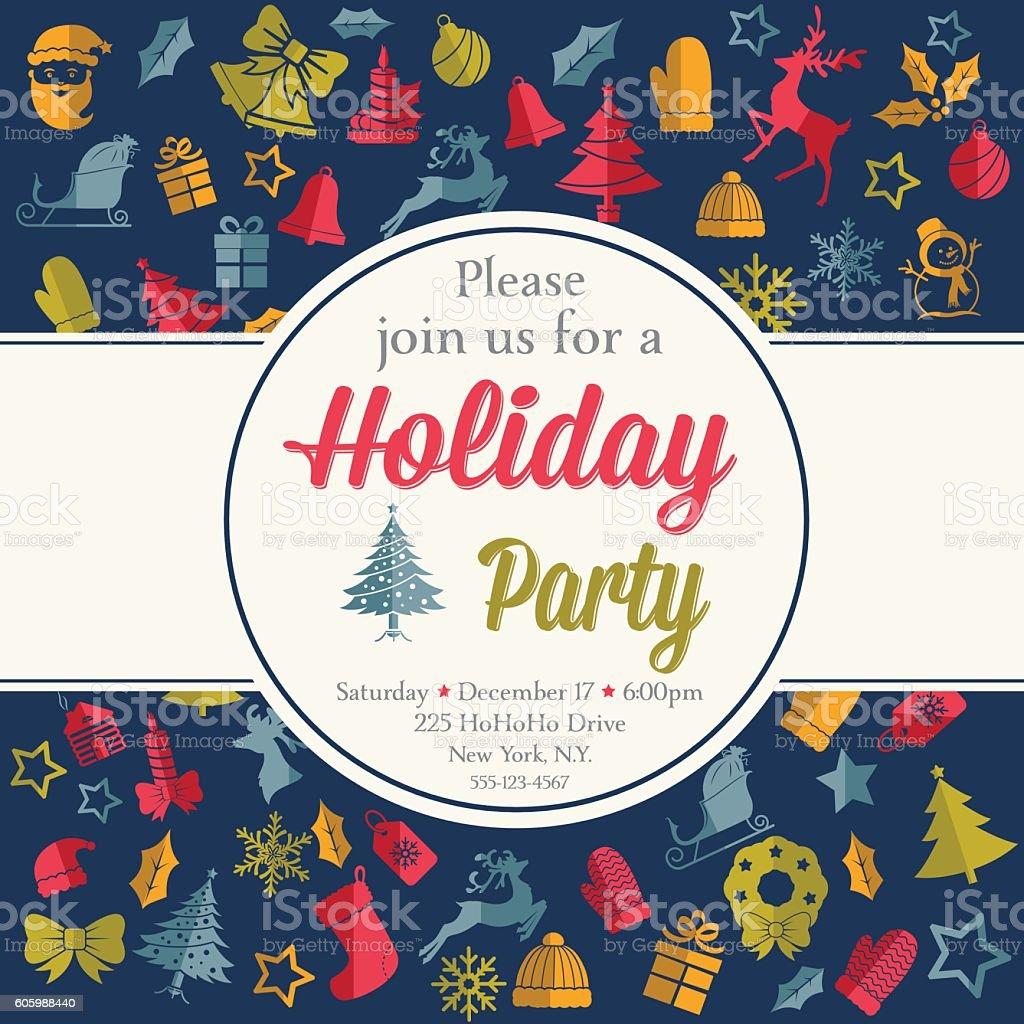 christmas party invitation template stock vector art  christmas party invitation template royalty stock vector art