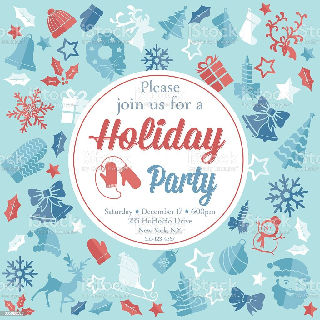 christmas party invitation template stock vector art  christmas party invitation template royalty stock vector art