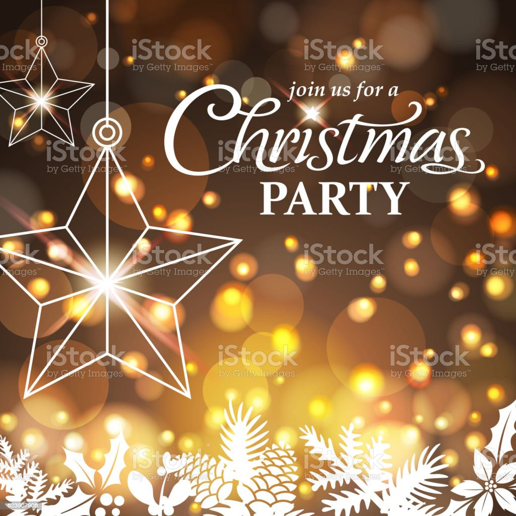 Christmas Party Night vector art illustration