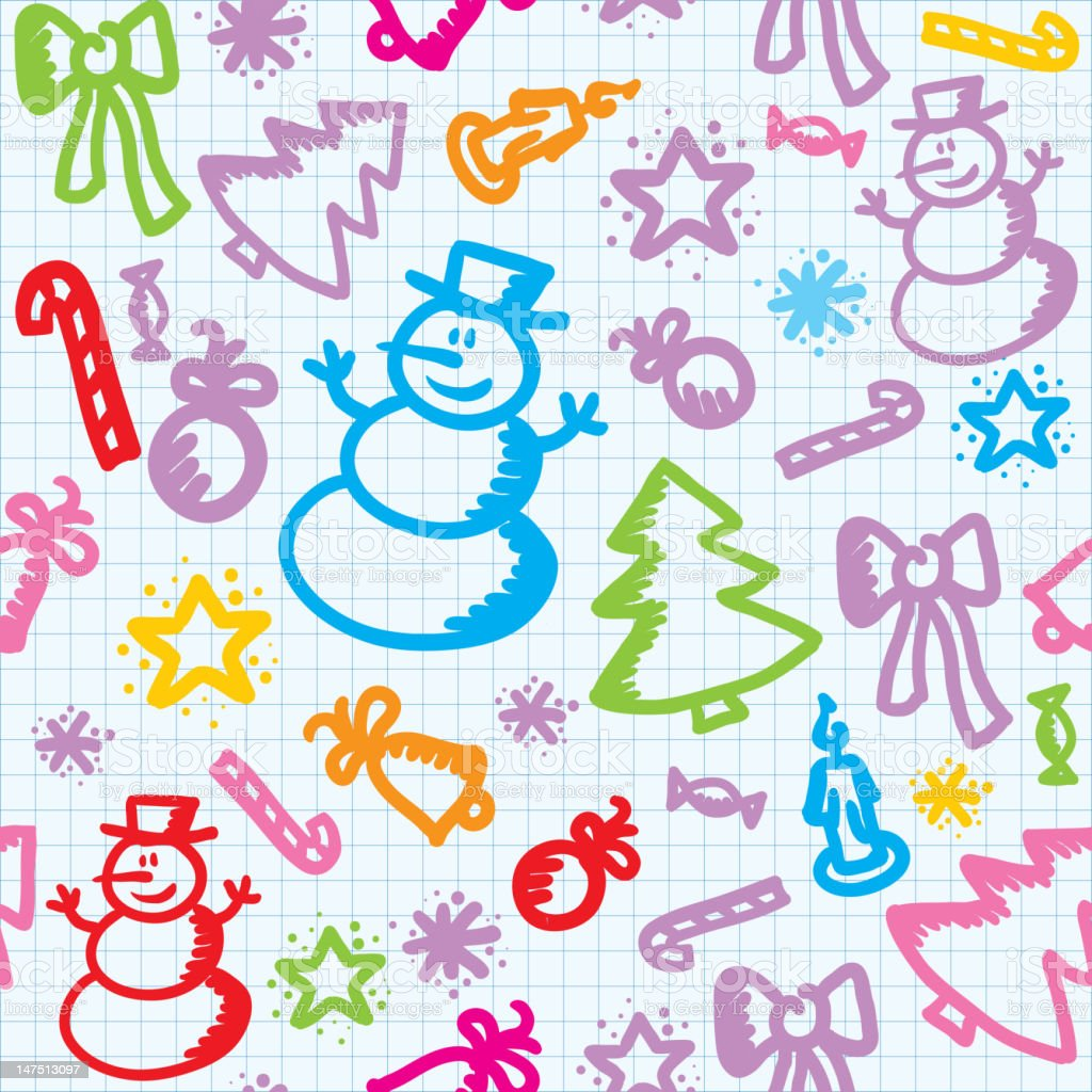 christmas pattern royalty-free stock photo