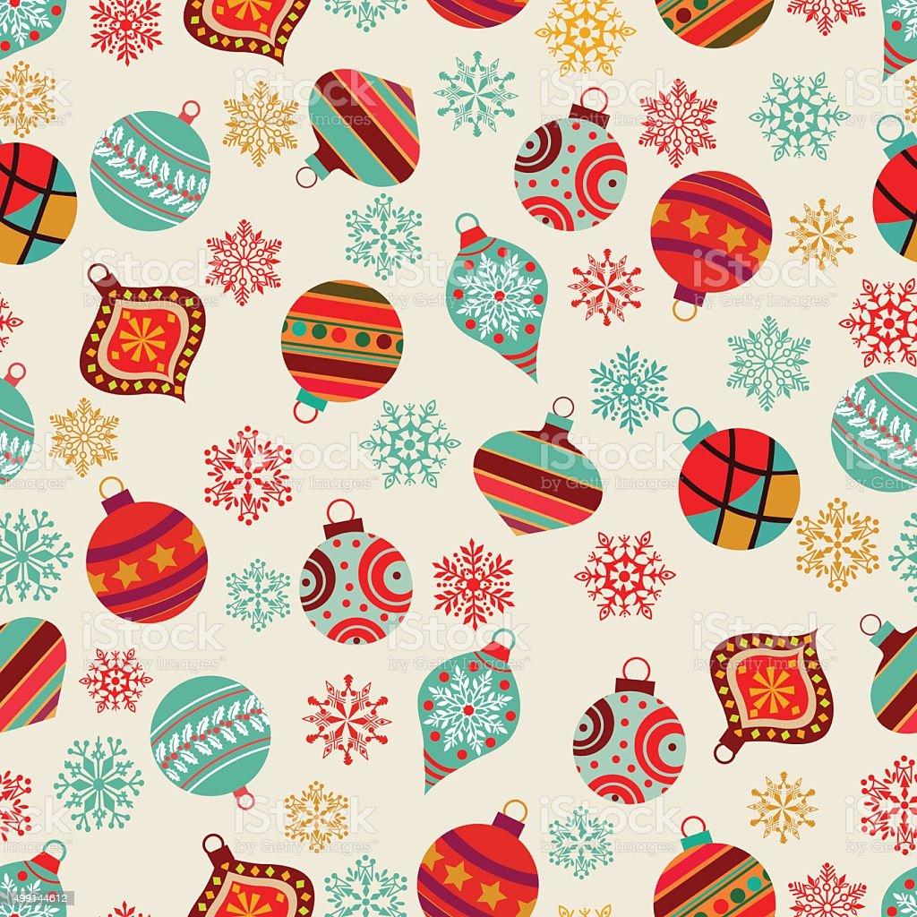 Christmas pattern . vector art illustration