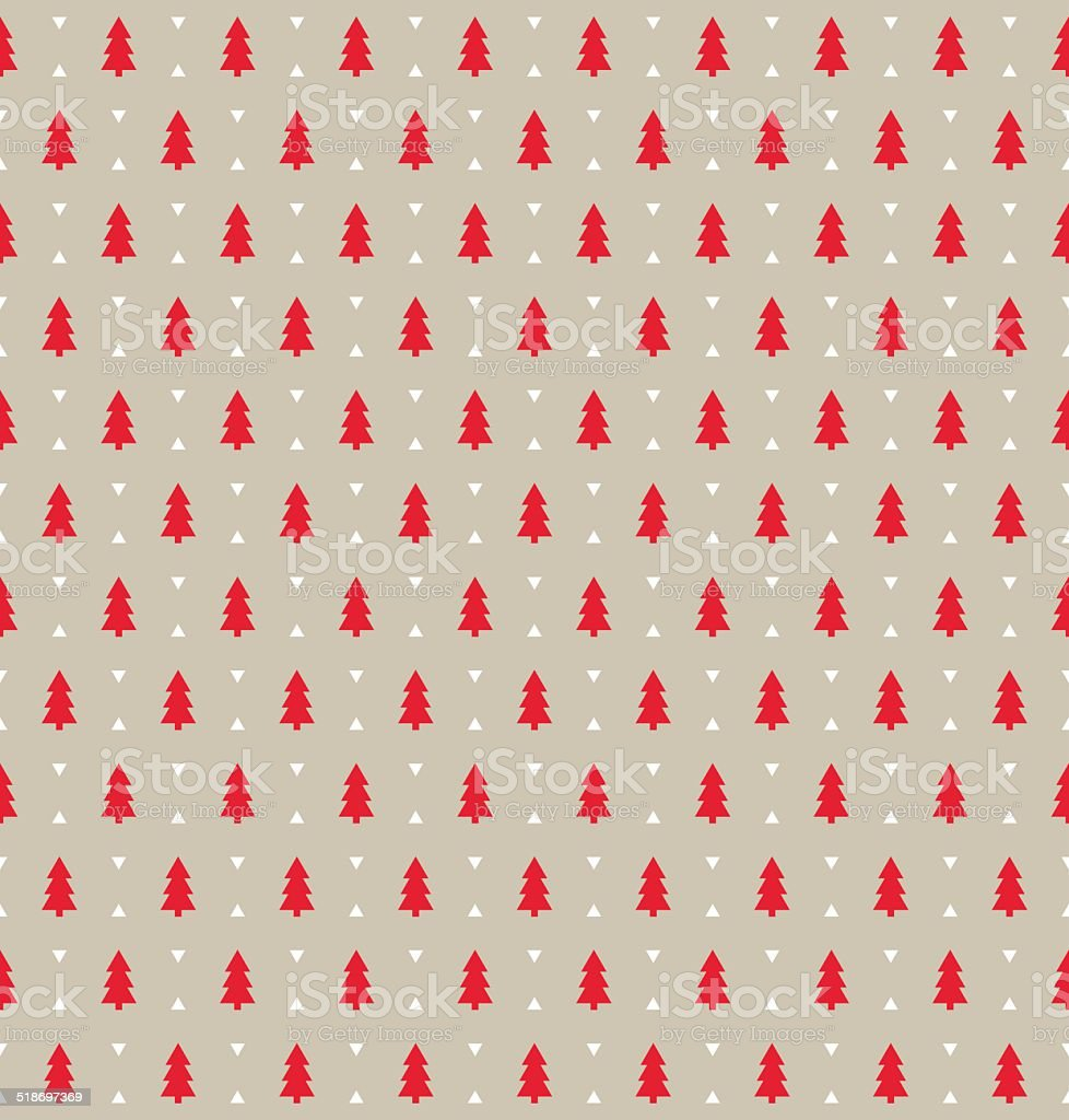 Christmas pattern vector art illustration