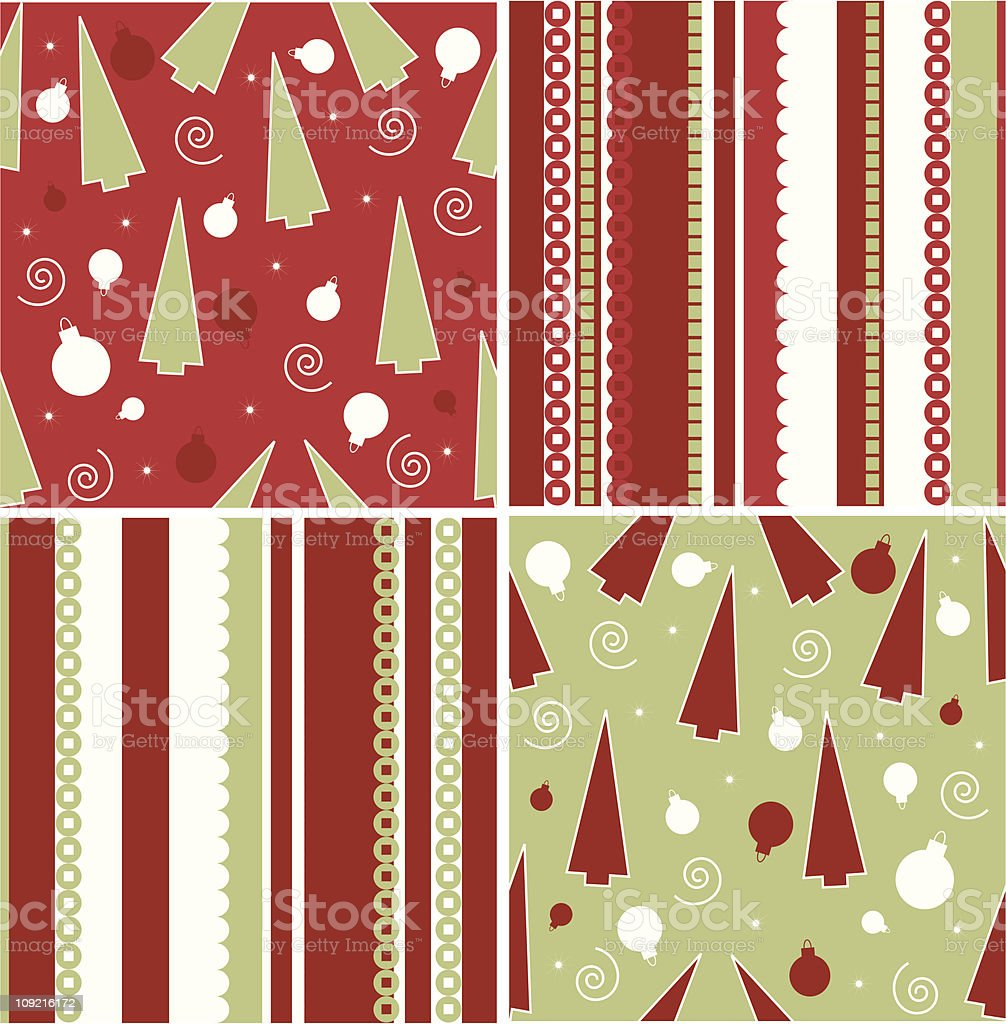 Christmas patterns royalty-free stock vector art