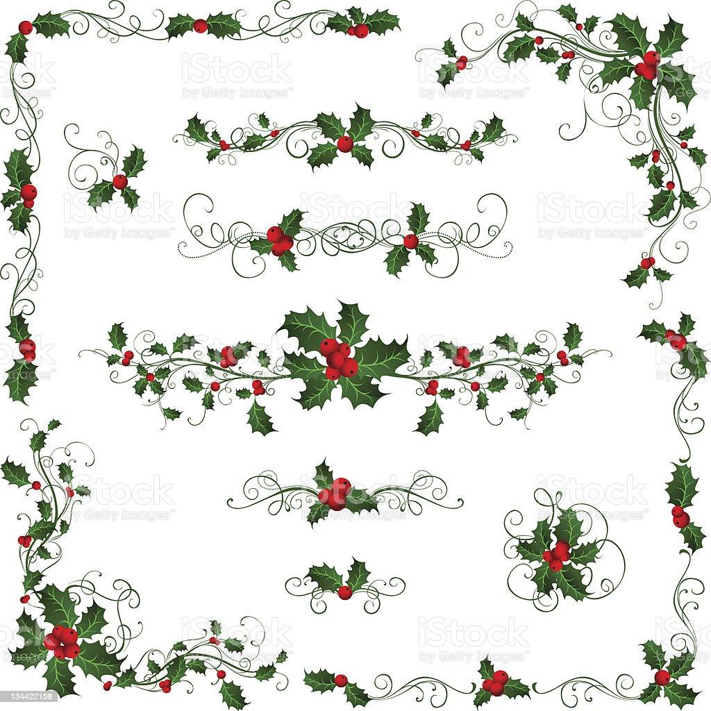 Christmas patterns vector art illustration