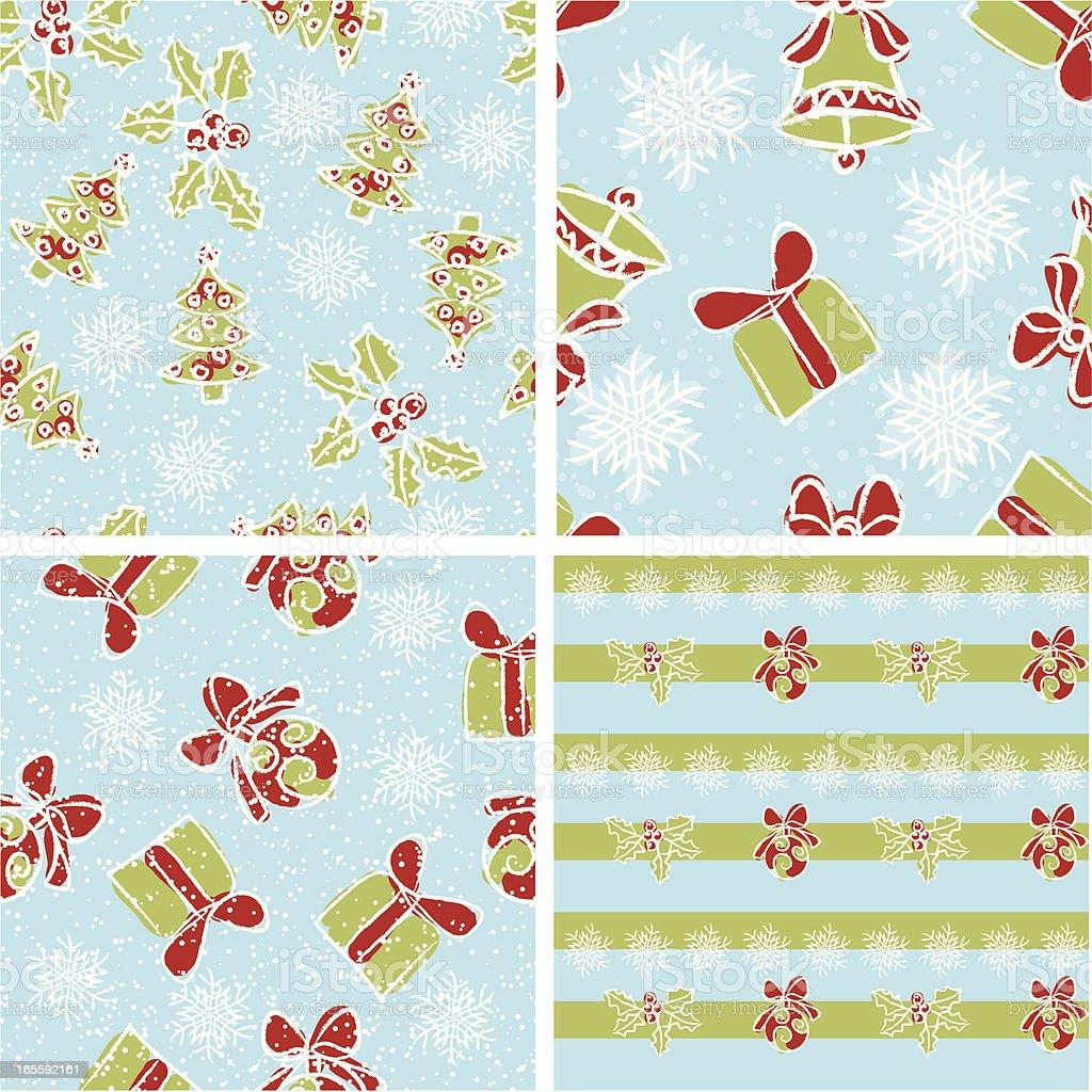 Christmas patterns . royalty-free stock vector art