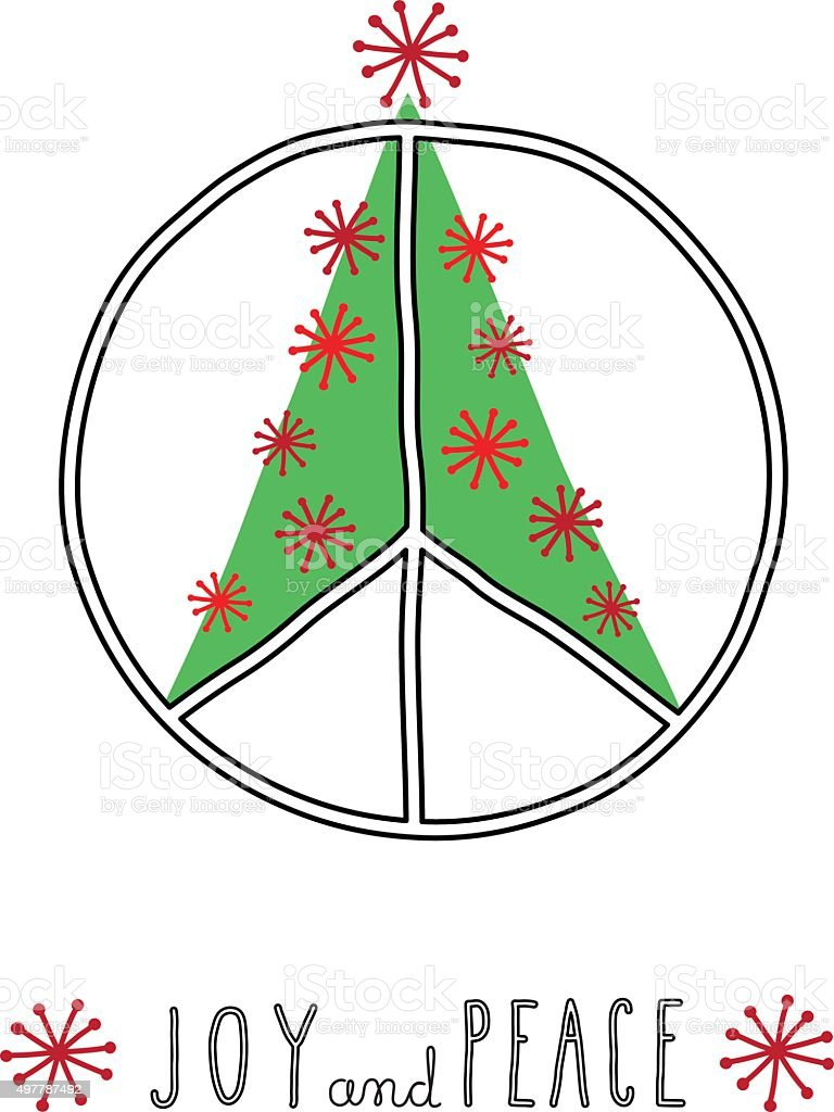 Christmas Peace vector art illustration