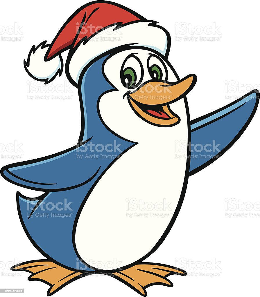Christmas Penguin royalty-free stock vector art