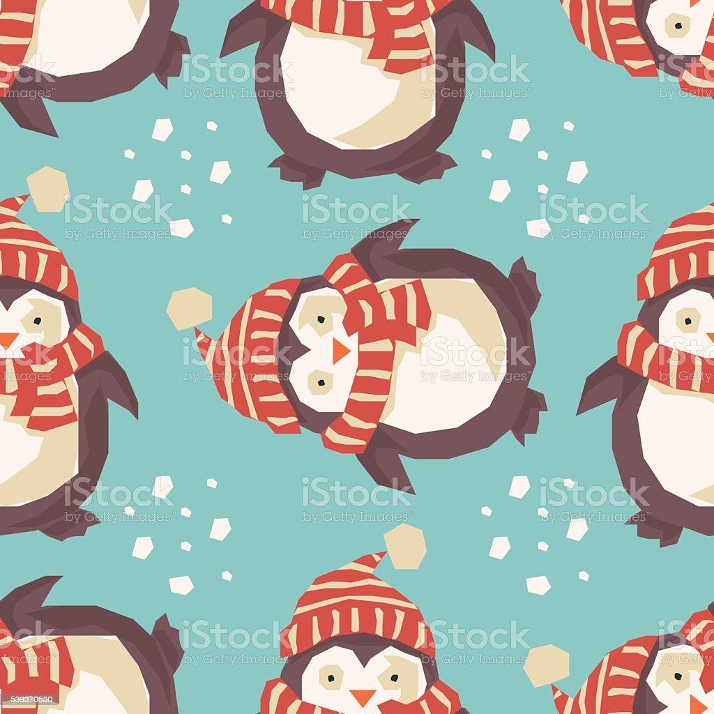 Christmas penguins, happy royalty-free stock vector art