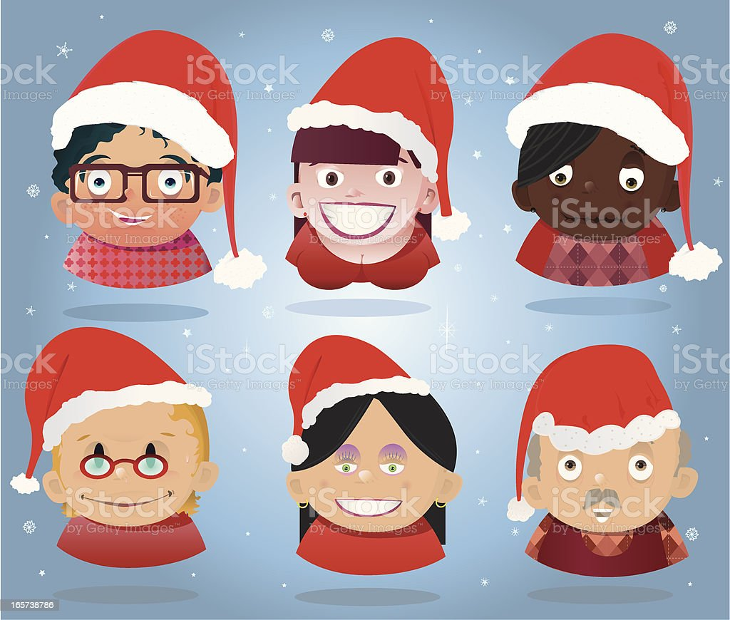 Christmas People royalty-free stock vector art