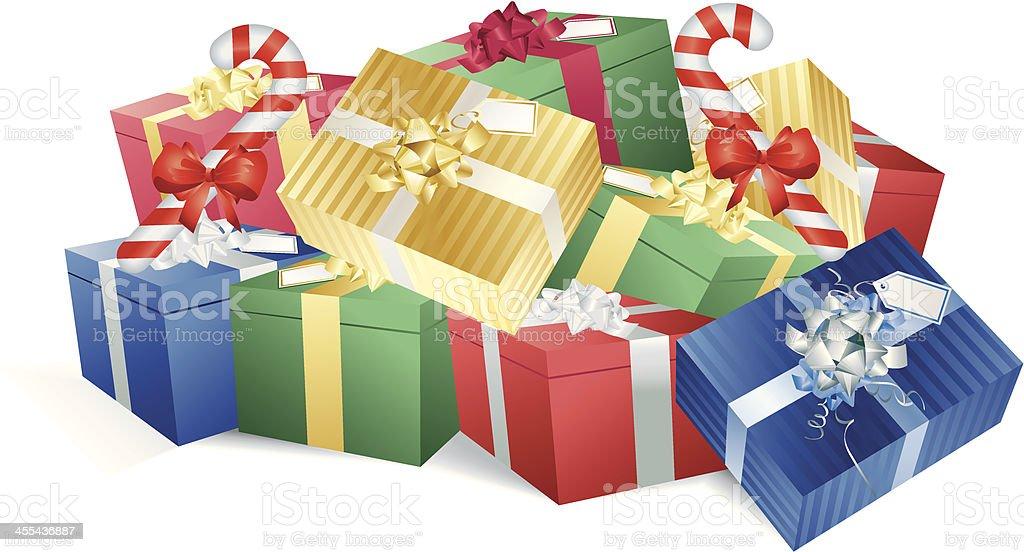Christmas Pile of Gifts royalty-free stock vector art