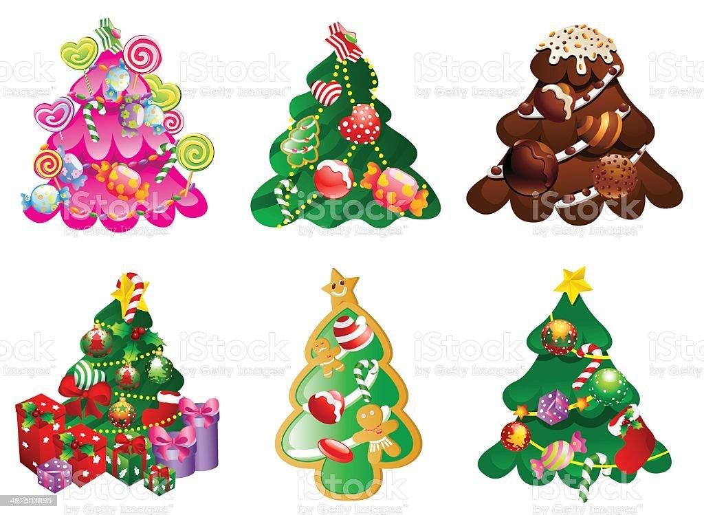 christmas pine design royalty-free stock vector art