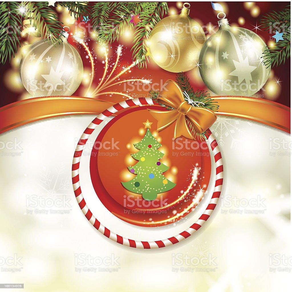 Christmas pine tree royalty-free stock vector art