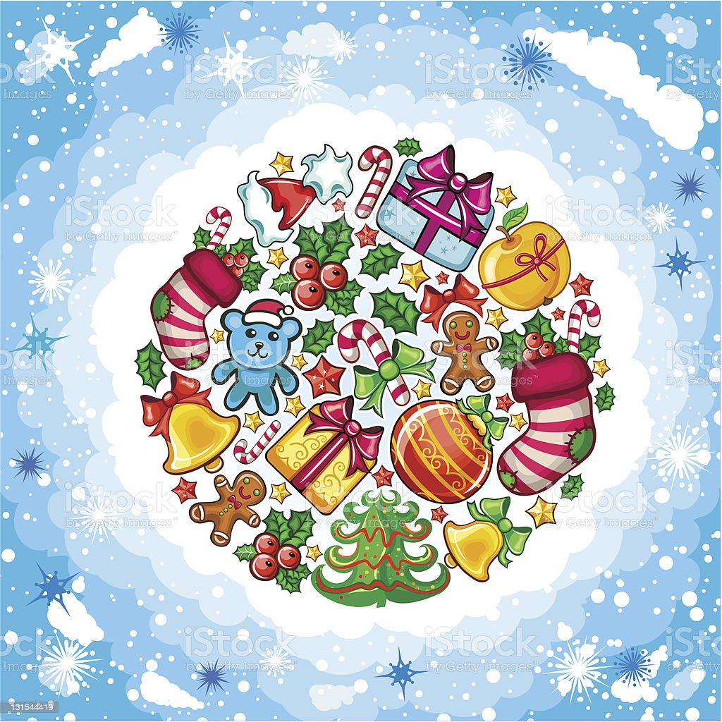 Christmas planet royalty-free stock vector art