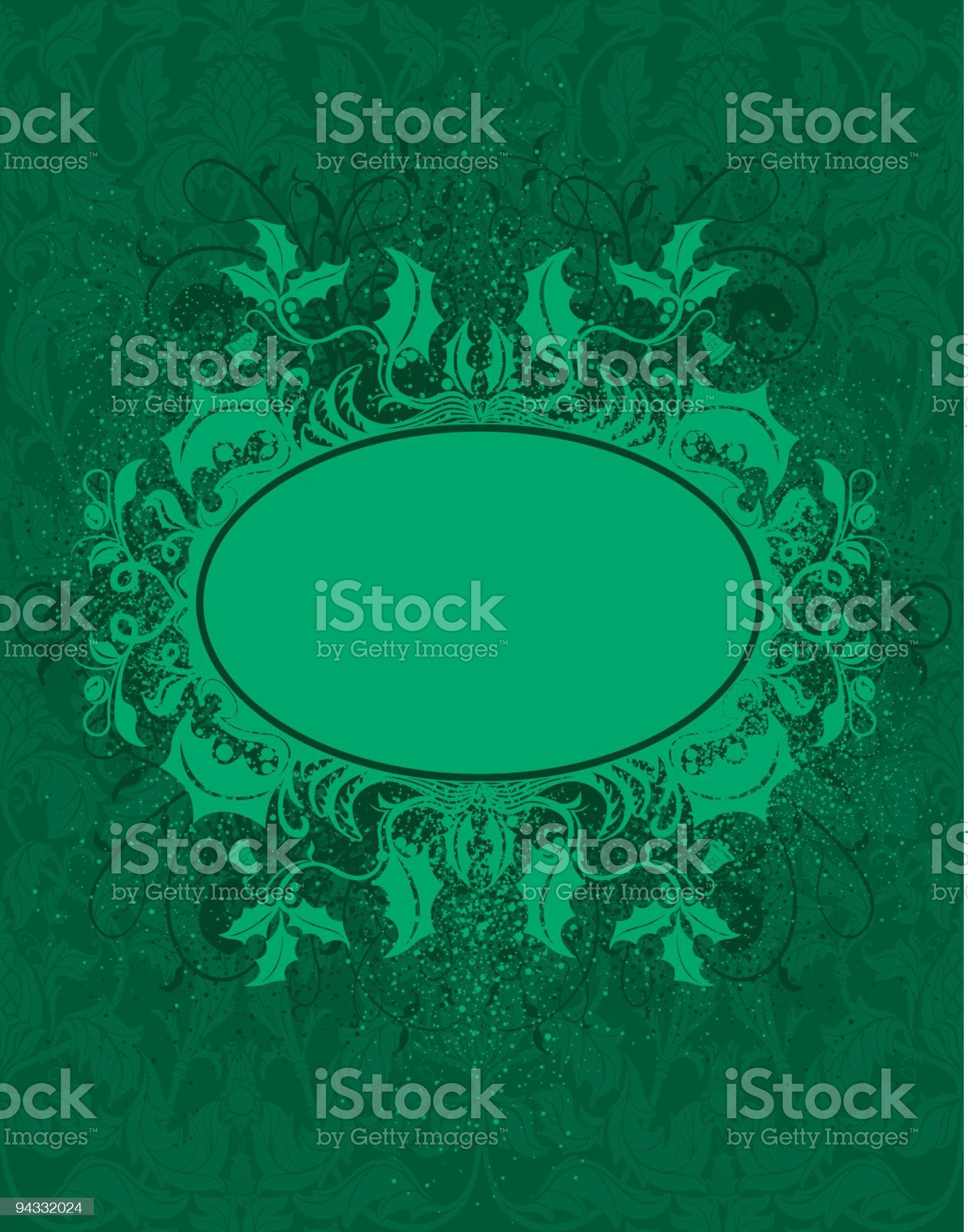 Christmas Plaque royalty-free stock vector art