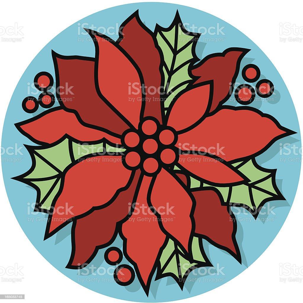 Christmas poinsettia royalty-free stock vector art