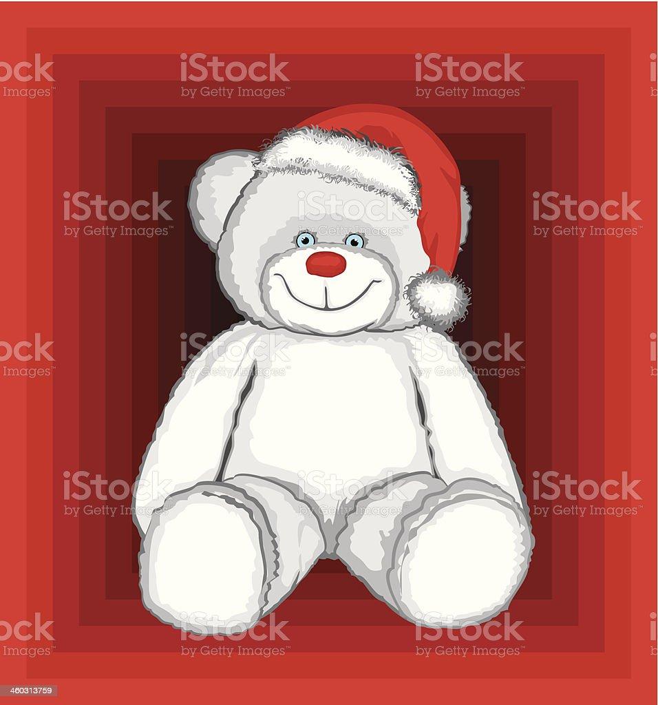 Christmas Polar Bear royalty-free stock vector art