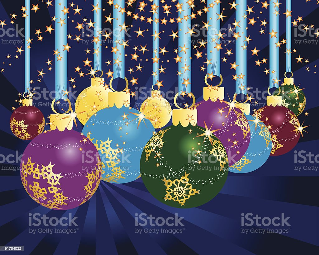 christmas postcard royalty-free stock vector art