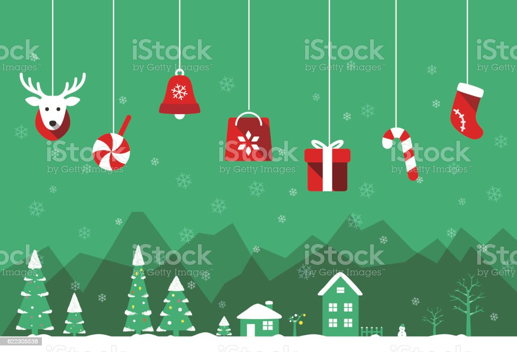 Christmas poster, greeting card design vector art illustration