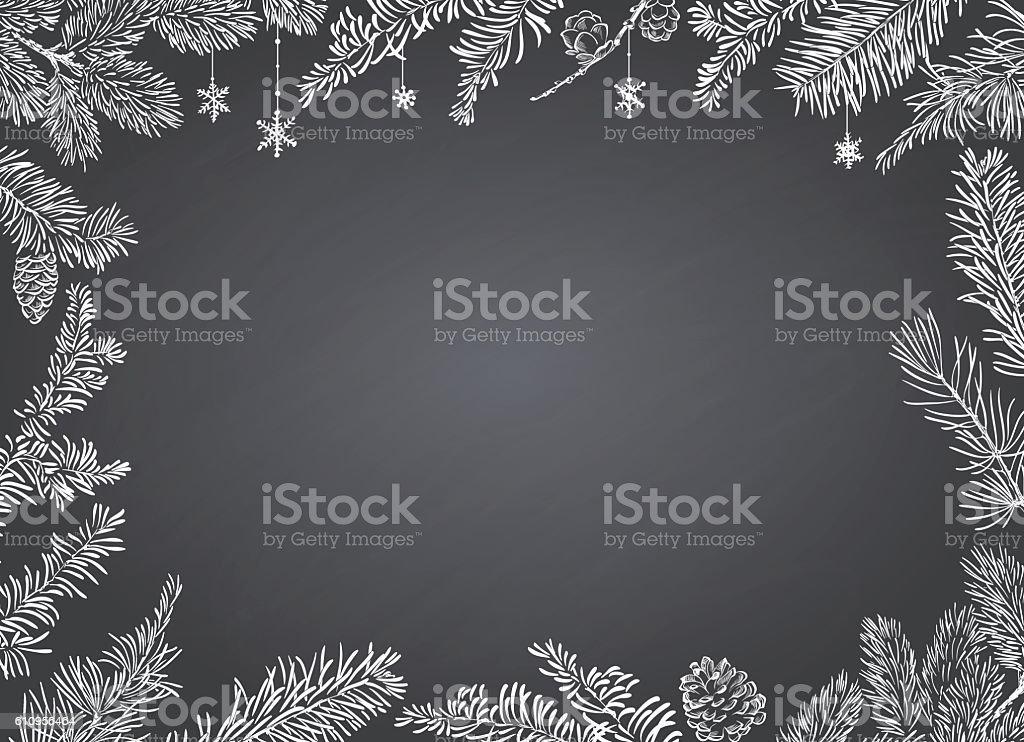 Christmas Poster - Illustration. Vector illustration of Christmas Background vector art illustration