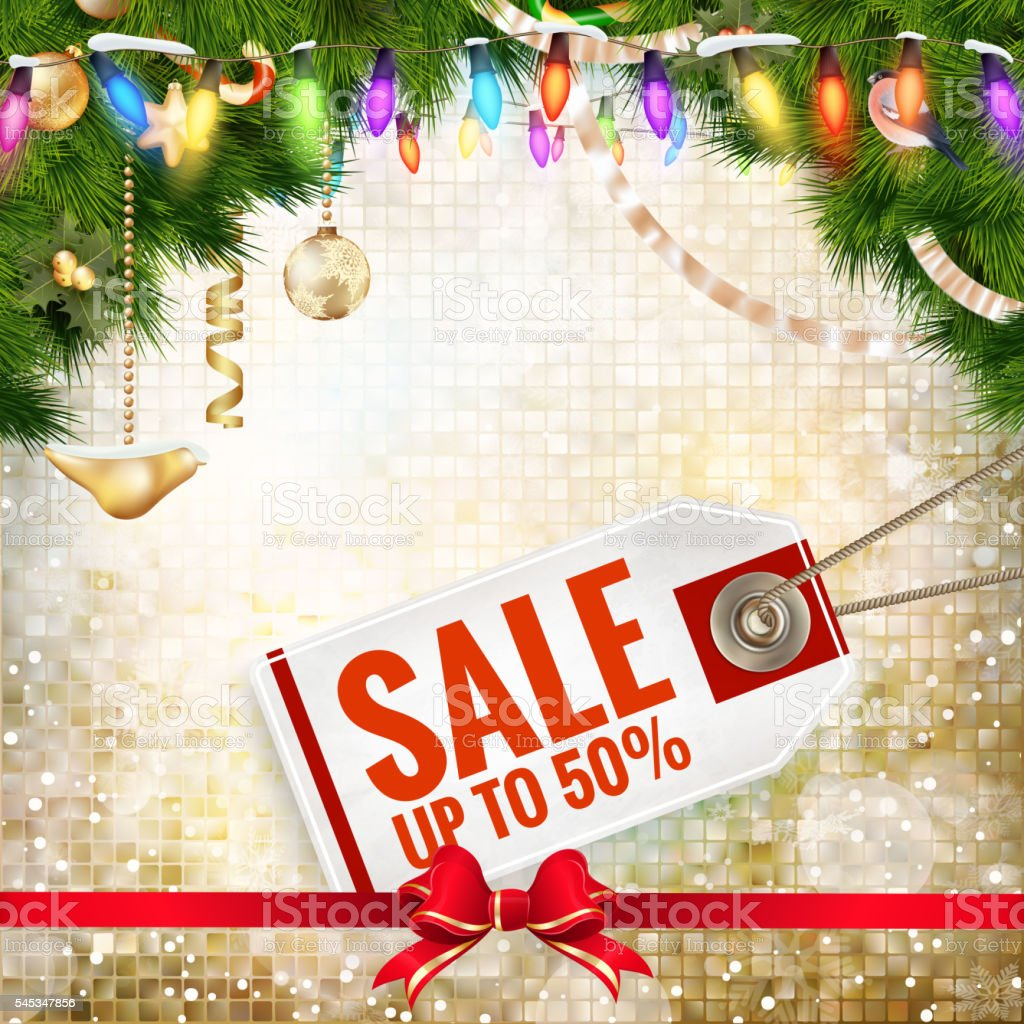Christmas Poster Sale. Typography. EPS 10 vector art illustration