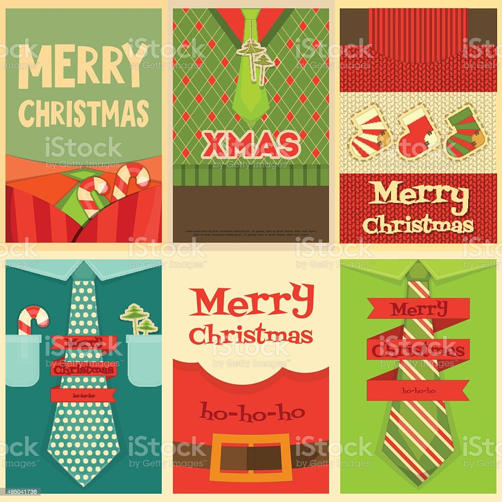 Christmas Posters vector art illustration