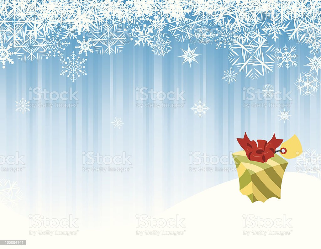 Christmas Present Background royalty-free stock vector art