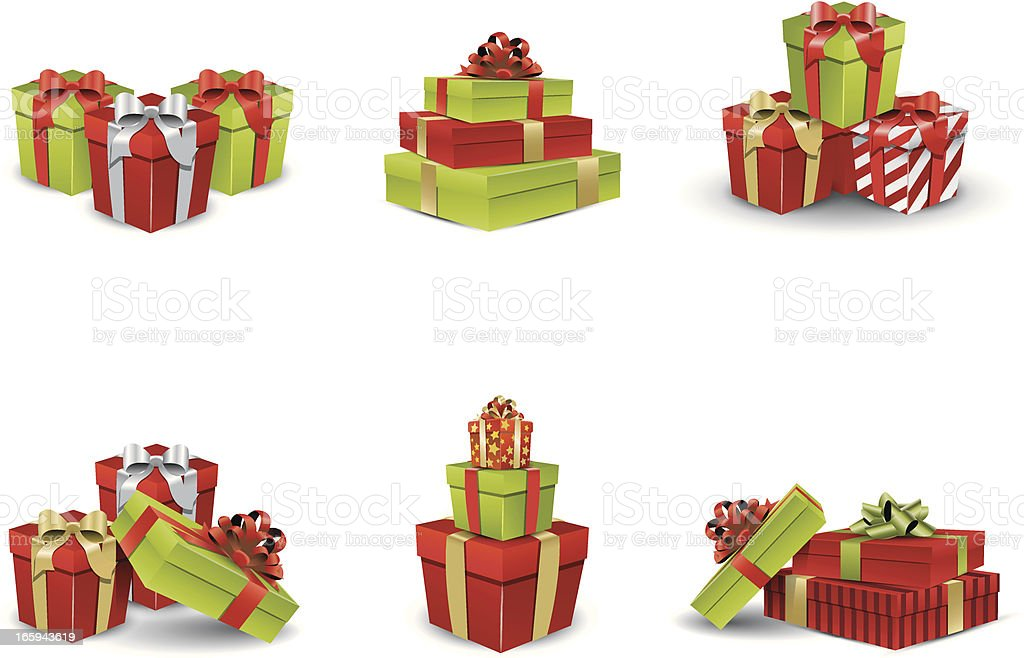 Christmas Presents vector art illustration