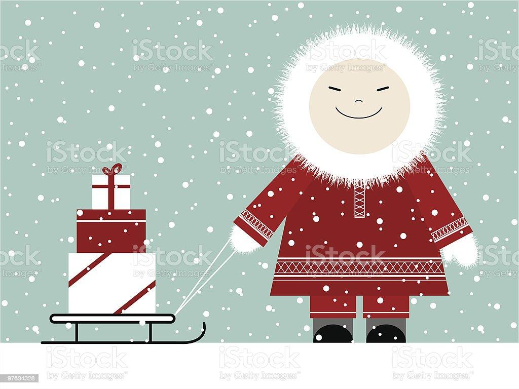 Christmas presents vector art illustration