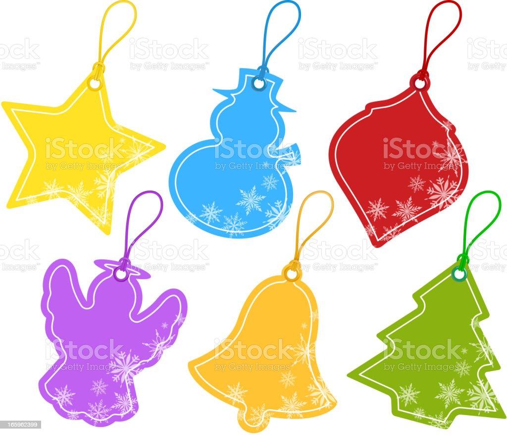 Christmas Price Tag vector art illustration