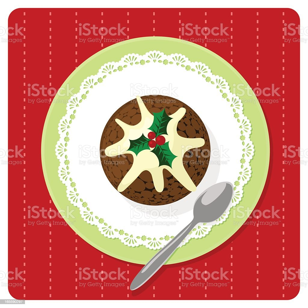 Christmas puddin vector art illustration